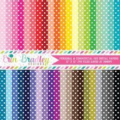 Polka Dots Digital Paper Pack Bundle – Erin Bradley/Ink Obsession Designs
