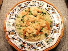 Risotto agli scampi e piselli (Risotto with Shrimp and Peas)   Memorie di Angelina