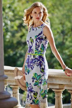Botanical  Print Dress, $99