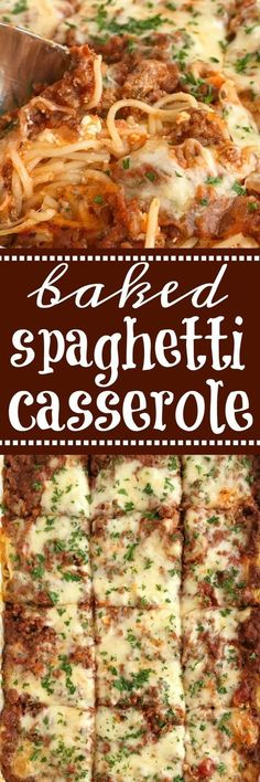 Four Kitchen Decorating Suggestions Which Can Be Cheap And Simple To Carry Out Baked Spaghetti Casserole Baked Spaghetti Casserole Is A Family Favorite Dinner That's Filled With Pasta, Cheese, And An Easy Spaghetti Meat Sauce. This Gets Gobbled Up Even By Casserole Dishes, Casserole Recipes, Pasta Recipes, Beef Recipes, Dinner Recipes, Cooking Recipes, Recipies, Spaghetti Recipes, Casserole Ideas