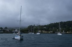 Storms over Port Antonio.  | mjsailing.com | sailing blog