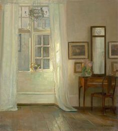 amare-habeo: Carl Holsøe (Danish Interior N/D Oil on canvas laid down on masonite. Interior Paint, Cafe Interior, Painting Inspiration, Art Pictures, Aarhus, Ramen, Art Photography, Illustration Art, Fine Art
