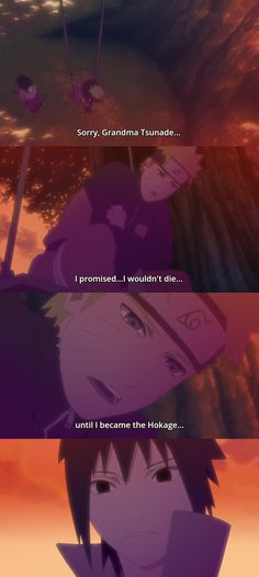 That moment when Sasuke realized he (almost) destroyed Naruto's dream