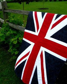 Baby Quilt - British Flag - English pride for the United Kingdom - ready to ship - pride for Britian. $199.00, via Etsy.
