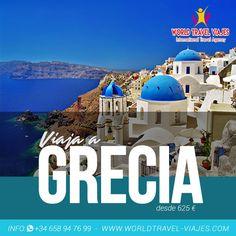 No te quedes en casa esta Semana Santa... Viaja a Grecia con #WorldTravelViajes desde 625€... ¡Contáctenos! #Viajes #Travel