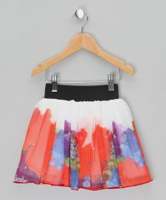 Red Flower Tulle Skirt  by Spring Style