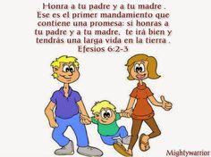 """JESUS PODEROSO GUERRERO: EFESIOS 6:2-3 ~~~ """" MANDAMIENTO CON PROMESA """""""