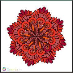 Red tones mandala