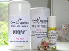 Natural vegan deodorant perfume and body  by TwinkleApothecary