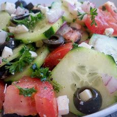 Greek Cucumber - Tomato and Onion Salad