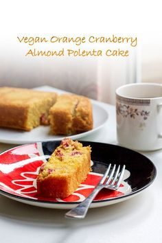 Orange, Cranberry and Almond Polenta Cake // polenta, ground almonds, fresh cranberries, demerara sugar, oranges, vegetable oil, baking powder, bicarb soda