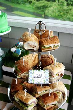 Golf Party Club Sandwiches   Golf Birthday Par.Tee   CatchMyParty.com