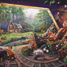 thomas kinkade disney dwarfs - Google Search