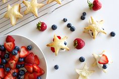 last minute 4th of July dessert! puff pastry stars
