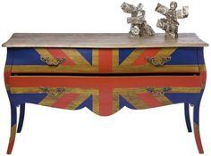 Chest Romantico Union Jack Colore. Kare design.