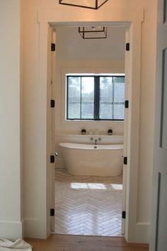 urban farmhouse - farmhouse - bathroom - columbus - ENJOY Co. bath tub/floor tile