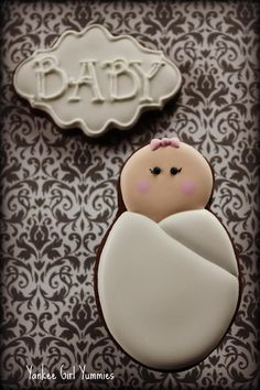 Swaddled baby cookie tutorial | Cookie Connection