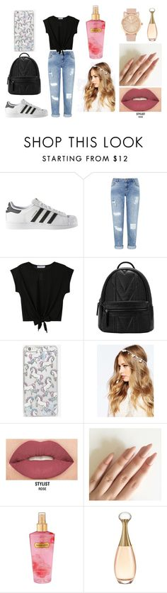 """♥♥♥♥"" by hunyadi-sara on Polyvore featuring adidas, Miss Selfridge, Skinnydip, ASOS, Smashbox, Victoria's Secret and Christian Dior"