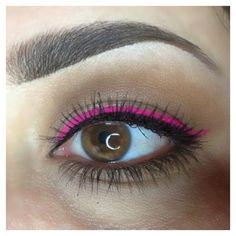 Bright pink neon liner