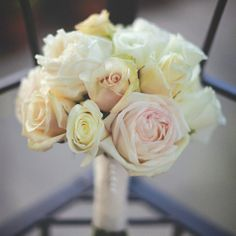 White, pale pink and cream bouquet