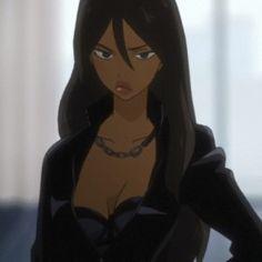 anime: michiko to hatchin Brown Hair Cartoon, Black Girl Cartoon, Black Girl Art, Foto Cartoon, Cartoon Pics, Aesthetic Girl, Aesthetic Anime, Aesthetic Black, Aesthetic Vintage