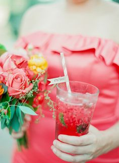 Vibrant Coral Real Wedding: Blaine and Mike