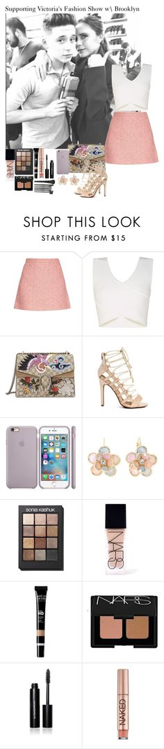 """Supporting Victoria's Fashion Show with Brooklyn"" by music-lover1d ❤ liked on Polyvore featuring Gucci, BCBGMAXAZRIA, Mixit, Sonia Kashuk, NARS Cosmetics, Bobbi Brown Cosmetics and Urban Decay"