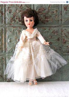 Vintage Wedding Doll Original Wedding Dress by emmylucy, etsy