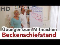 Beckenschiefstand // Übungen zum Mitmachen // Rückenschmerz, Wirbelsäule - YouTube