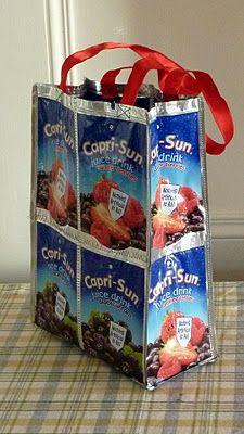 DIY Capri sun bag OMG @Brooklyn Hacker