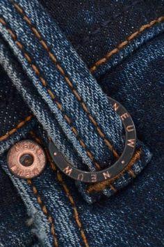 Leather Label, Men's Denim, Denim Style, Denim Branding, Textiles, Clothing Labels, Denim Outfit, Metal Buckles, Denim Fashion