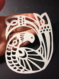 Scandinavian Inspired Bird - ORIGINAL paper cutting on Etsy, £27.85