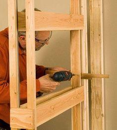 Installing a Pocket Door - How to Install House Doors. Makita mode ON :D Double Pocket Door, Pocket Door Frame, Pocket Doors, Pocket Door Installation, Barn Doors For Sale, House Doors, Interior Barn Doors, Exterior Doors, Reno