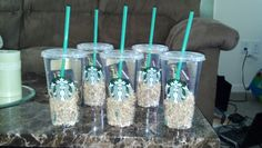 Favorite Things party gifts. $5 Starbucks gift cards