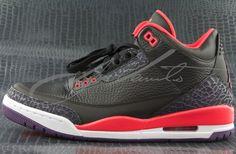 Air Jordan III 3 Black Crimson