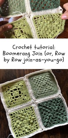 Crochet Tutorial: Row by Row JAYG (or, the boomerang join) to put your granny squares together