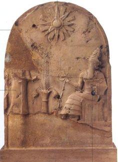Estela con escena de libación (Susa s.XXI a. C.)