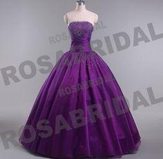Vestido largo en color púrpura