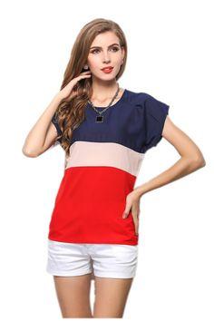 Lovelybunny Womens Girls Ladies Pretty Petite Elegant Short Sleeve Pullover Shirt