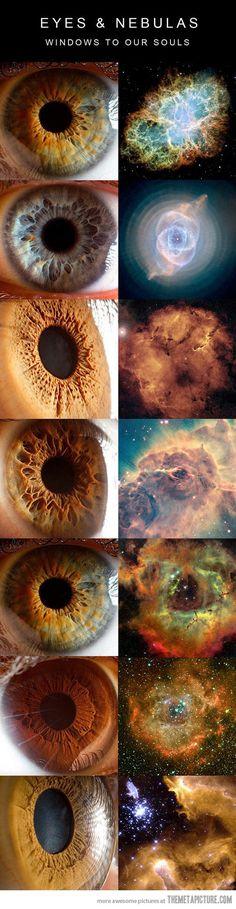 Eyes and nebulas…