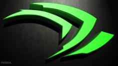 Tecnologia Nvidia  Textura Escuridão 3D Verde Logo Papel de Parede
