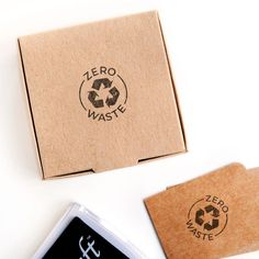 zero waste stamp for sustainable packaging, zero waste packaging stamp, zero waste brand, sustainable package stamp, ecological package idea - Madison Stewart - conscious Paper Packaging, Print Packaging, Packaging Design, Recyclable Packaging, Packaging Boxes, What Is Brand Identity, Eco Brand, Reduce Reuse Recycle, Original Gifts