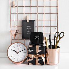 Pinterest: dopethemesz ; rose gold/copper dreams ; modern office decor