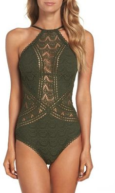 This sexy Becca Crochet swimsuit is swimming in delicate details!