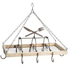 """My new pot rack. It is """"apartment size""""! Can't wait to hang my grandmother's old pots and pans on it!"""