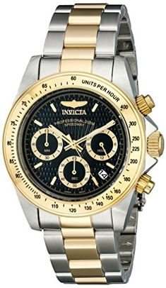 Invicta Mens 9224 Speedway Collection S Series TwoTone Stainless Steel Watch with Link Bracelet * More info could be found at the image url.