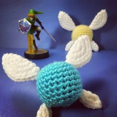 Here's my free pattern for Navi! As always, if you have any questions about the pattern just let me know :) This pattern can also be used to make Tatl, another fairy from Legend of Zelda. Jus…