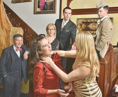 Murder mystery dinner theater hosted by Wilburton Inn | The Manchester Journal | Manchester Breaking News, Sports, Weather, Traffic PHOTO PROVIDED BY JEFF FOXCast members of The Dangerous Divorcee, 2018, were, from lower left, Brian Drutman, Bronwyn Whittle, Tina Cutler, Joe Mozer, David Gregory, Theresa Kloos.