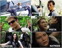 The Hunger Games Igrzyska Śmierci Catching Fire W Pierścieniu Ognia Sam Clafin FInnick Josh Hutcherson Peeta Jennifer Lawrence Katniss