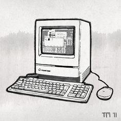 Sketch of a Apple Macintosh Classic